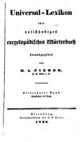 Universal-lexikon, oder Vollständiges encyclopädisches wörterbuch: Band 17