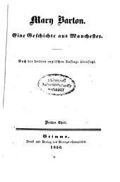 Mary Barton: Eine Geschichte aus Manchester. Nach der dritten englischen Auflage übersetzt, Band 3
