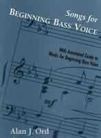 Songs for Beginning Bass Voice PDF
