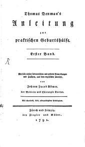 Anleitung zur praktischen Geburtshülfe: Band 1