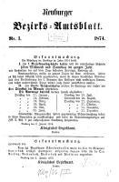 Neuburger Bezirks Amtsblatt PDF
