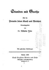 Stunden Mit Goethe: Band 2