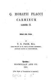 Q. Horatii Flacci Carminum libri iv, ed. by T.E. Page