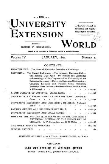 The University Extension World PDF