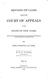 Reports of Cases Decided in the Court of Appeals of the State of New York: Volume 101