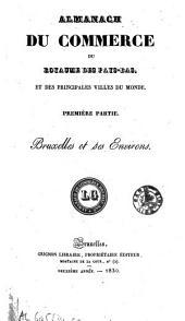 Almanach du commerce du royaume des Pays-Bas: Bruxelles et ses environs