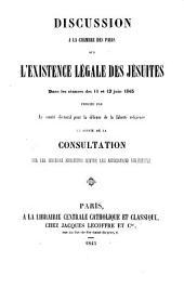 Discussion à la Chambre des Paris sur l'existence légale des jésuites ...