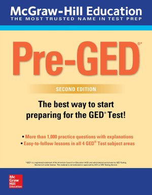 McGraw Hill Education Pre GED with Downloadable Tests  Second Edition PDF