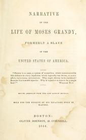 Narrative of the Life of Moses Grandy: Late a Slave in the United States of America