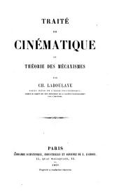 Traité de cinématique ou théorie des mécanismes