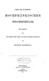 Quellen und Forschungen zur Sprach- und Culturgeschichte der germanischen Völker: Ausgaben 46-50