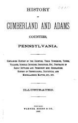 History of Cumberland and Adams Counties  Pennsylvania PDF
