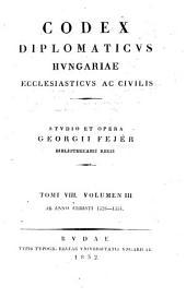 Codex diplomaticvs Hvngariae ecclesiasticvs ac civilis: Volume 3; Volume 8