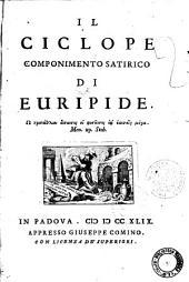 Il ciclope componimento satirico di Euripide