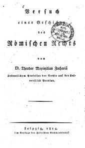 Versuch einer Geschichte des römischen Rechts