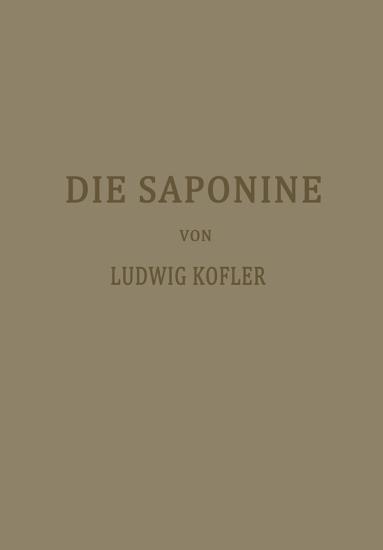 Die Saponine PDF