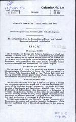 Women's Progress Commemoration Commission Act