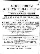 Stillicidium altius tolli posse etiam cum damno servientis