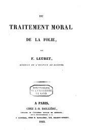 Du traitement moral de la folie