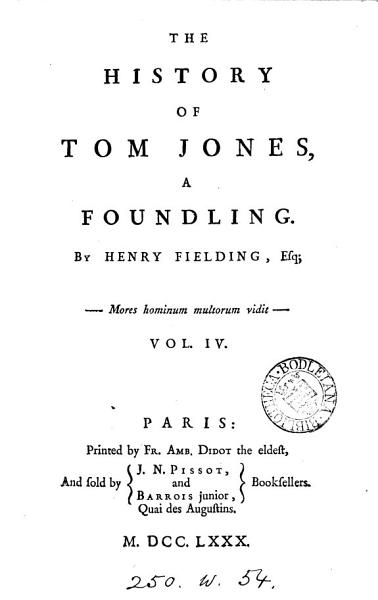 Download The History of Tom Jones Book