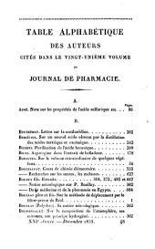 Journal de pharmacie et des sciences accessoires: Volume21