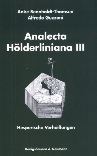 Analecta H  lderliniana III PDF