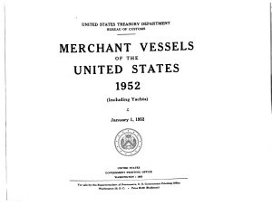 Merchant Vessels of the United States      including Yachts  PDF