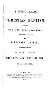 A Public Debate on Christian Baptism