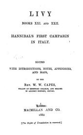 Livy. Books XXI and XXII: Hannibal's first campaign in Italy