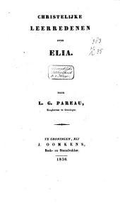 Christelijke leerredenen over Elia