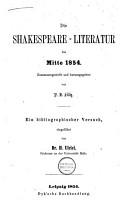 Die Shakespeare literatur bis mitte 1854 PDF