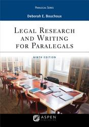Legal Research and Writing for Paralegals PDF