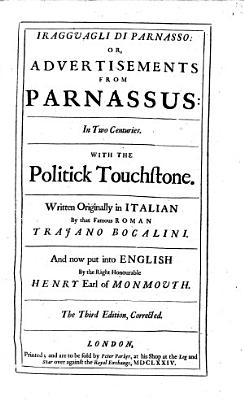 I Ragguagli di Parnasso  or  Advertisements from Parnassus     The third edition  corrected PDF