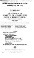 Foreign Assistance and Related Agencies Appropriations for 1970 PDF