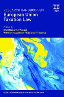 Research Handbook on European Union Taxation Law PDF