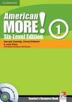 American More  Six Level Edition Level 1 Teacher s Resource Book with Testbuilder CD ROM Audio CD PDF