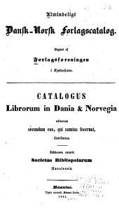 Almindeligt dansk-norsk forlagscatalog