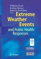 Extreme Weather Events and Public Health Responses PDF