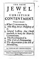 The Rare Jewel of Christian Contentment PDF
