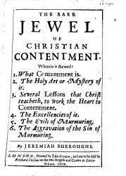 The Rare Jewel Of Christian Contentment Book PDF