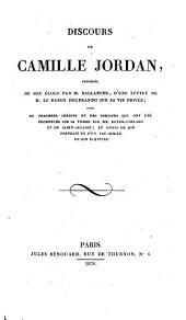 Eloge de Camille Jordan