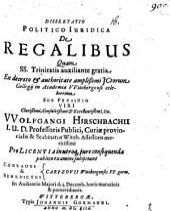 Dissertatio Politico-Iuridica De Regalibus