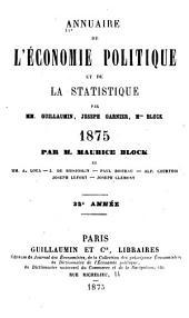 Annuaire de l'économie politique et de la statistique: Volume32