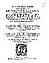 Theses de iurisdictione secularium iudicum