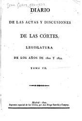Diario de las actas y discusiones de las Córtes: Legislatura de los años de 1820 y 1821, Volumen 7
