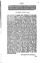 Be it Enacted and Ordained by the Commons of England in Parliament Assembled, that in Lieu of the Respective Salaries of Three Pence in the Pound, ... Allowed to the Trustees and Contractors, ... for Sale of Lands and Possessions of the Late Deans, Deans and Chapters, ... the Respective Purchasers of Any of the Said Lands and Possessions, ... Shall in Part of Their Purchase Money Pay Six Pence in the Pound of the Whole Purchase Money to the Said Contractors ....