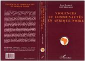 VIOLENCES ET COMMUNAUTES EN AFRIQUE NOIRE