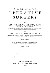 A Manual of Operative Surgery: Volume 1