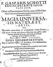Magia universalis naturae et artis: Optica, Volume 1