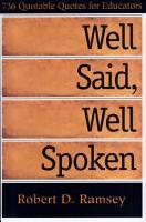 Well Said  Well Spoken PDF